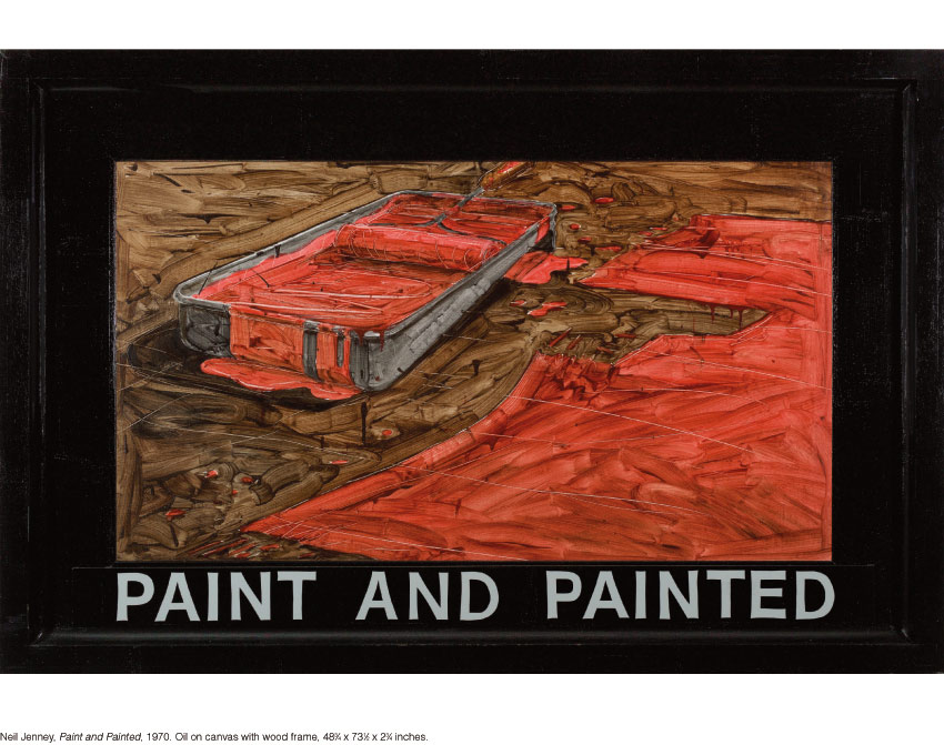 Neil Jenney, Paint and Painted, 1970. Oil on canvas with wood frame, 48-3⁄4 x 73-1⁄2 x 2-3⁄4 inches.
