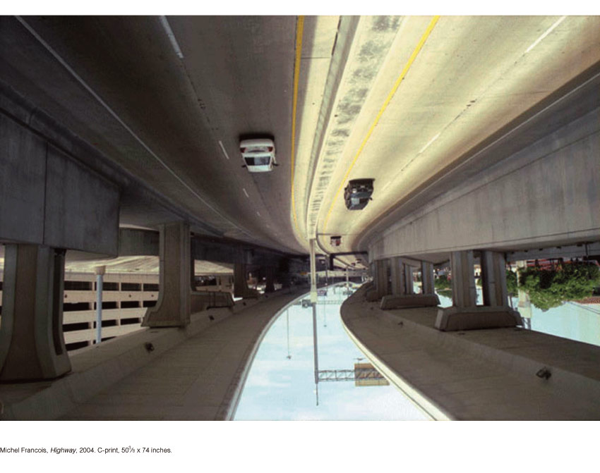 Michel Francois, Highway, 2004. C-print, 50-3⁄8 x 74 inches.