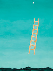 Georgia O'Keefe, Ladder to the Moon, 1958 Oil on canvas, 40 x 30 inches